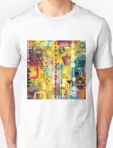 Abstract Botanical Garden Print T-Shirt