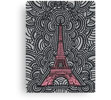 Eiffel Tower Drawing Meditation Canvas Print