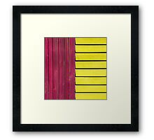 Red and Yellow Wood Framed Print