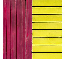 Red and Yellow Wood Photographic Print