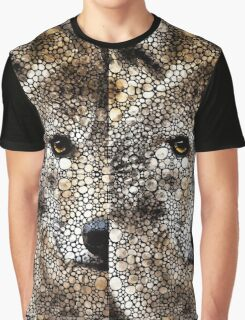 Stone Rock'd Wolf Art by Sharon Cummings Graphic T-Shirt