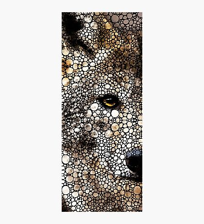 Stone Rock'd Wolf Art by Sharon Cummings Photographic Print