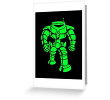 Manbot - Super Lime Variant Greeting Card