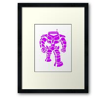 Manbot - Purple Variant Framed Print