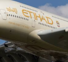 Etihad Airlines Airbus A380 Sticker