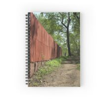 fence along the walkway Spiral Notebook