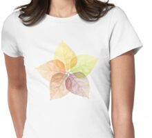 Autumn leaves flower Womens Fitted T-Shirt