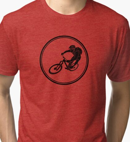 Mens Mountainbiking Tri-blend T-Shirt