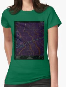 USGS TOPO Map Alabama AL The Basin 333405 1980 24000 Inverted Womens Fitted T-Shirt