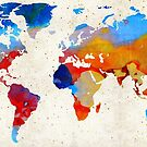 World Map 18 - Colorful Art By Sharon Cummings by Sharon Cummings
