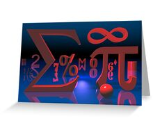 Mathematics Greeting Card