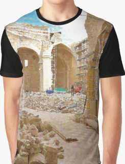 L'Aquila: collapsed church with rubble Graphic T-Shirt
