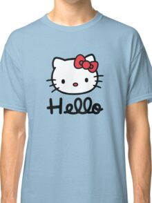 Hello little cute kitty cat Classic T-Shirt