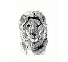 Animal Prints - Proud Lion - By Sharon Cummings Art Print