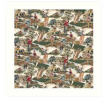 Fabric Art, Golfers Delight Art Print