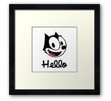 The cat named felix Framed Print