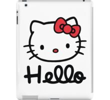 Hello little cute kitty cat iPad Case/Skin