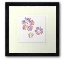 Hawaiian flower pattern 2 Framed Print