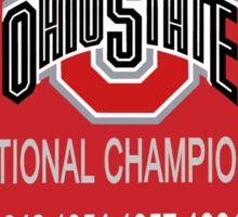 OSU Football National Championship Banner! Sticker