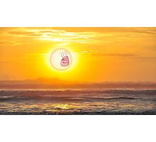 RICK AND MORTY SCREAMING SUN TIDE Photographic Print