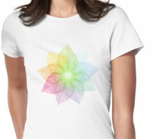 spring leaves flower Womens Fitted T-Shirt