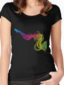 abstract colorful smoke, color waves pattern Women's Fitted Scoop T-Shirt