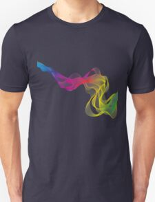 abstract colorful smoke, color waves pattern Unisex T-Shirt