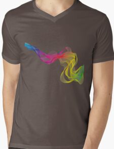abstract colorful smoke, color waves pattern Mens V-Neck T-Shirt