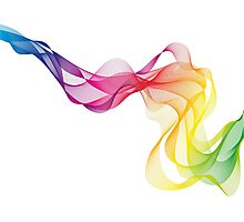 abstract colorful smoke, color waves pattern Photographic Print