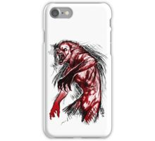 Losing My Humanity (Red Version) iPhone Case/Skin