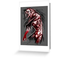 Losing My Humanity (Red Version) Greeting Card