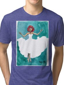 Breeze Watercolor Painting Tri-blend T-Shirt