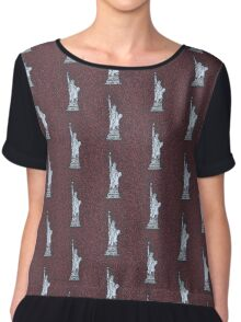 Statue of Liberty Drawing Meditation Chiffon Top