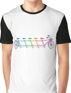 colorful tandem bicycle, team bike Graphic T-Shirt
