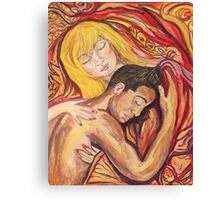 Sleeping Lovers Canvas Print