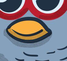 Red Eyeglasses Owl Sticker