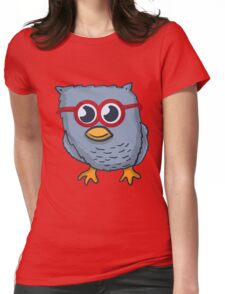Red Eyeglasses Owl Womens Fitted T-Shirt
