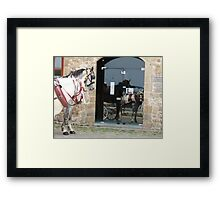 Check us out Framed Print