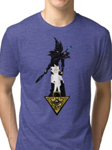 """Yu-Gi-Oh"" Fan Art (Yugi Muto / Dark Magician) Tri-blend T-Shirt"
