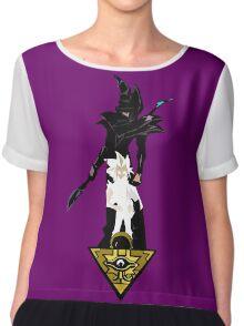"""""""Yu-Gi-Oh"""" Fan Art (Yugi Muto / Dark Magician) Chiffon Top"""