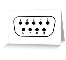DE9 Retro Joystick Connector Schematic Greeting Card