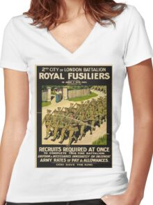 Vintage poster - British Military Women's Fitted V-Neck T-Shirt