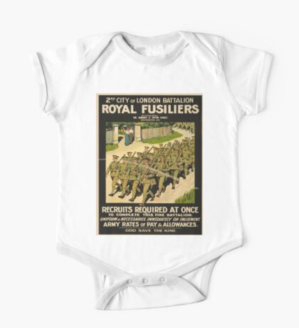 Vintage poster - British Military One Piece - Short Sleeve