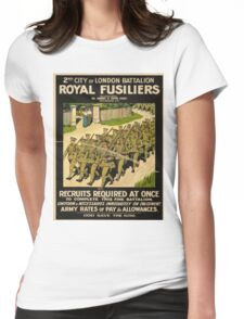 Vintage poster - British Military Womens Fitted T-Shirt