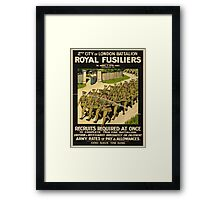 Vintage poster - British Military Framed Print