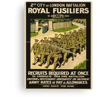 Vintage poster - British Military Canvas Print