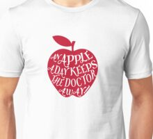 red apple with word art Unisex T-Shirt