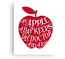 red apple with word art Canvas Print