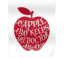 red apple with word art Poster