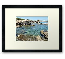 Volcanic Seashore Framed Print